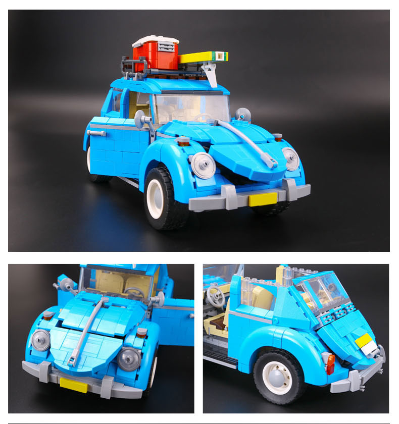 CUSTOM 21003 Building Blocks Vehicles Volkswagen Beetle Building Brick Sets