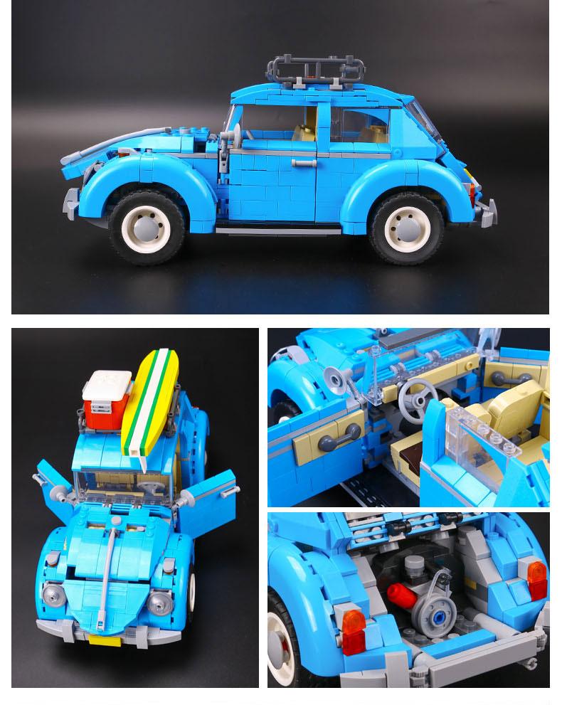 CUSTOM 21003 Building Blocks Vehicles Volkswagen Beetle Building Brick Sets