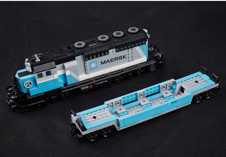 CUSTOM 21006 Building Blocks Toys Maersk Train Building Brick Sets