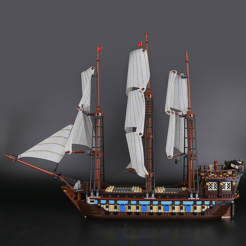 CUSTOM 22001 Building Blocks Toys Pirates of the Caribbean Imperial Flagship Building Brick Sets