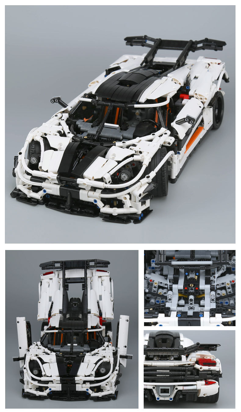 CUSTOM 23002 MOC Koenigsegg One: 1 Sports Car Building Toys Compatible Building Blocks