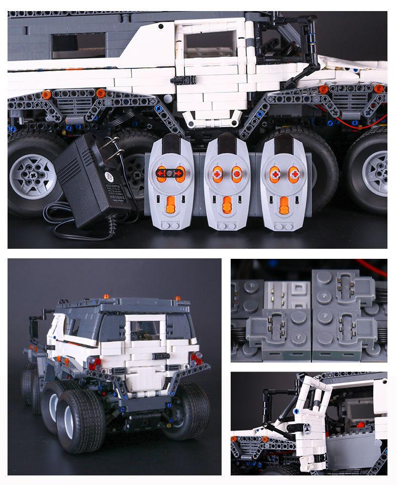 CUSTOM 23011 Building Blocks MOC Technic Avtoros Shaman 8x8 Building Brick Sets