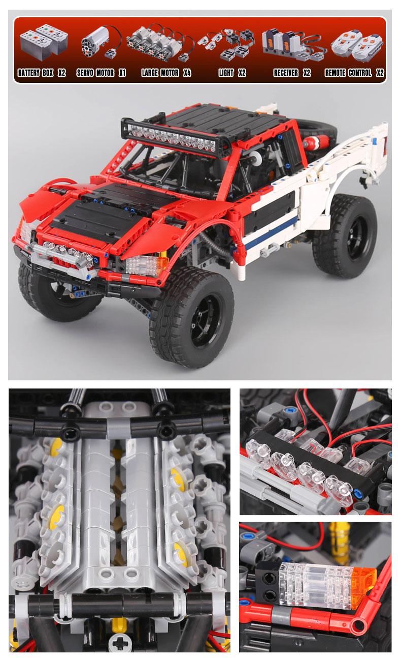 LEPIN 23013 Baja Trophy Truck MOC Building Bricks Set