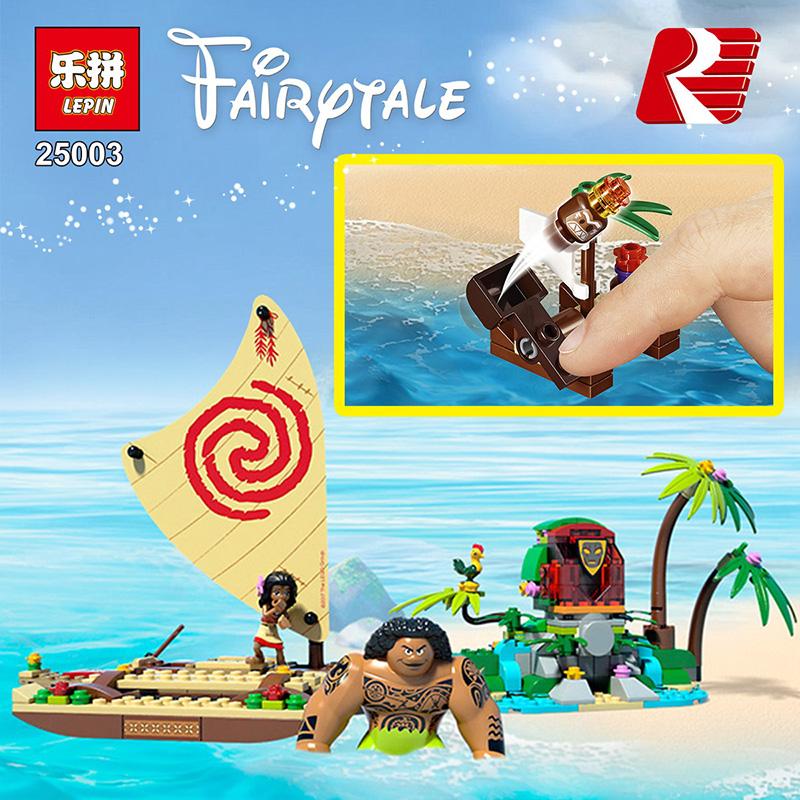 LEPIN 25003 Building Blocks Toys Moana's Ocean Voyage Building Brick Sets