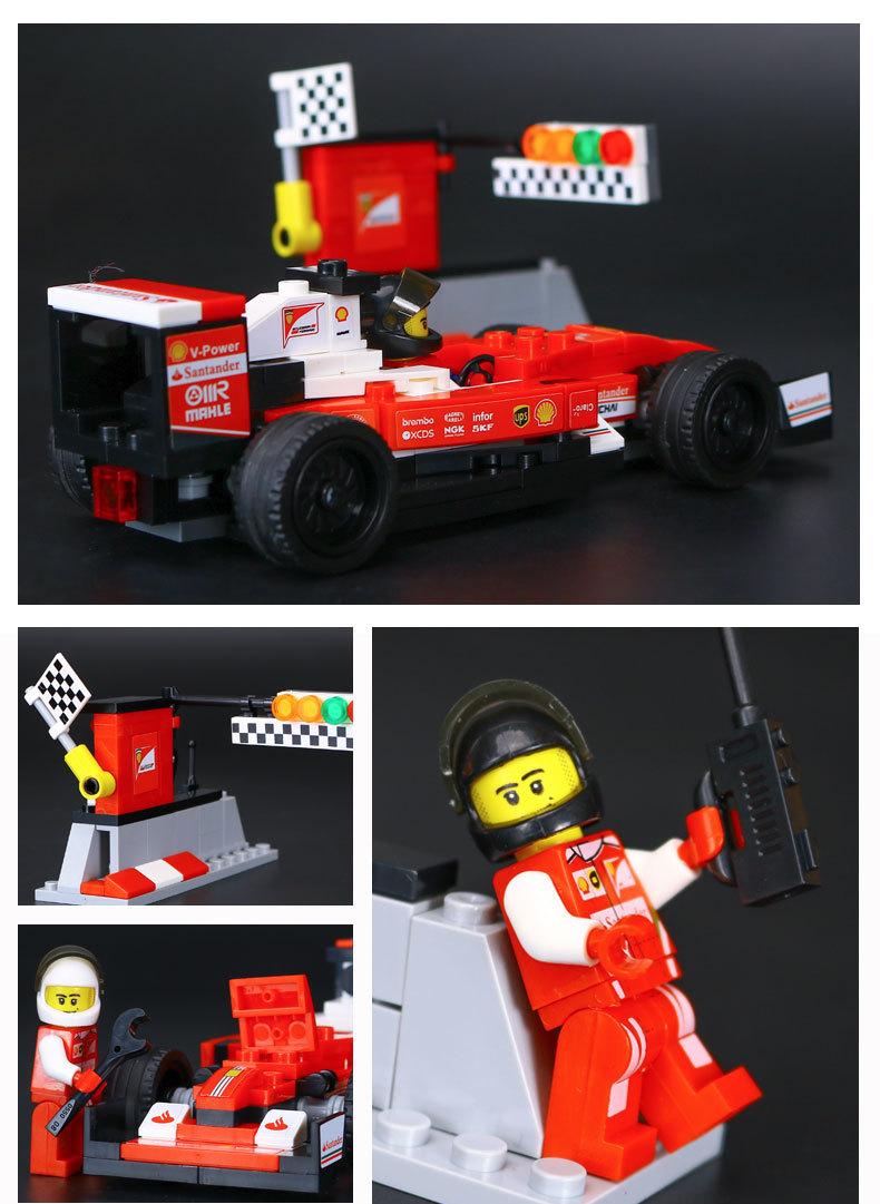 LEPIN 28001 Building Ferrari Scuderia Ferrari SF16-H Building Brick Sets