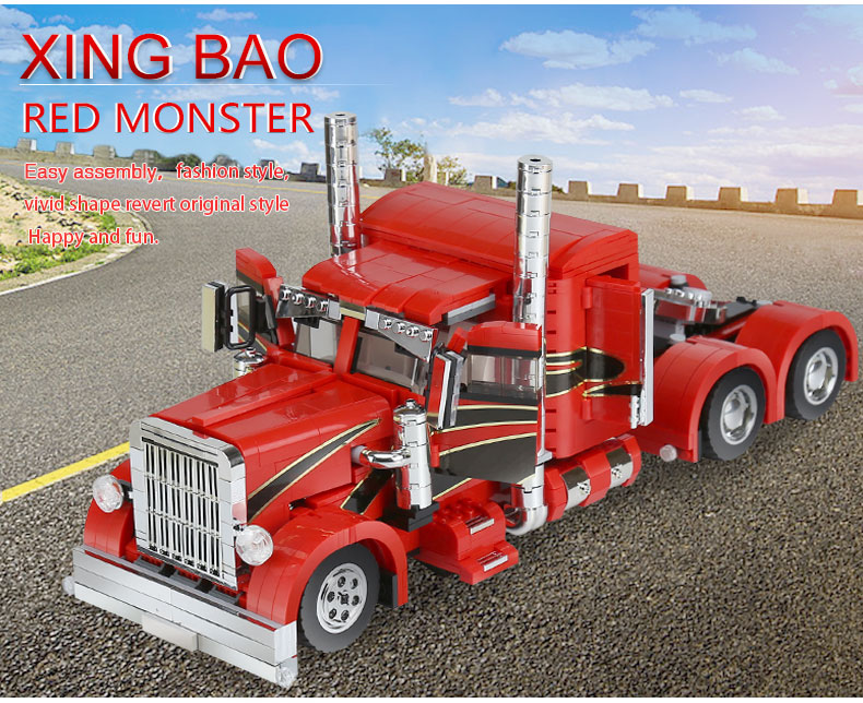 XINGBAO 03012 Technic MOC Red Monster Building Bricks Set