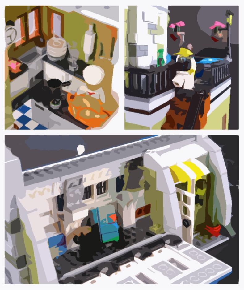 LEPIN 15010 Creator Expert Parisian Restaurant Building Bricks Set