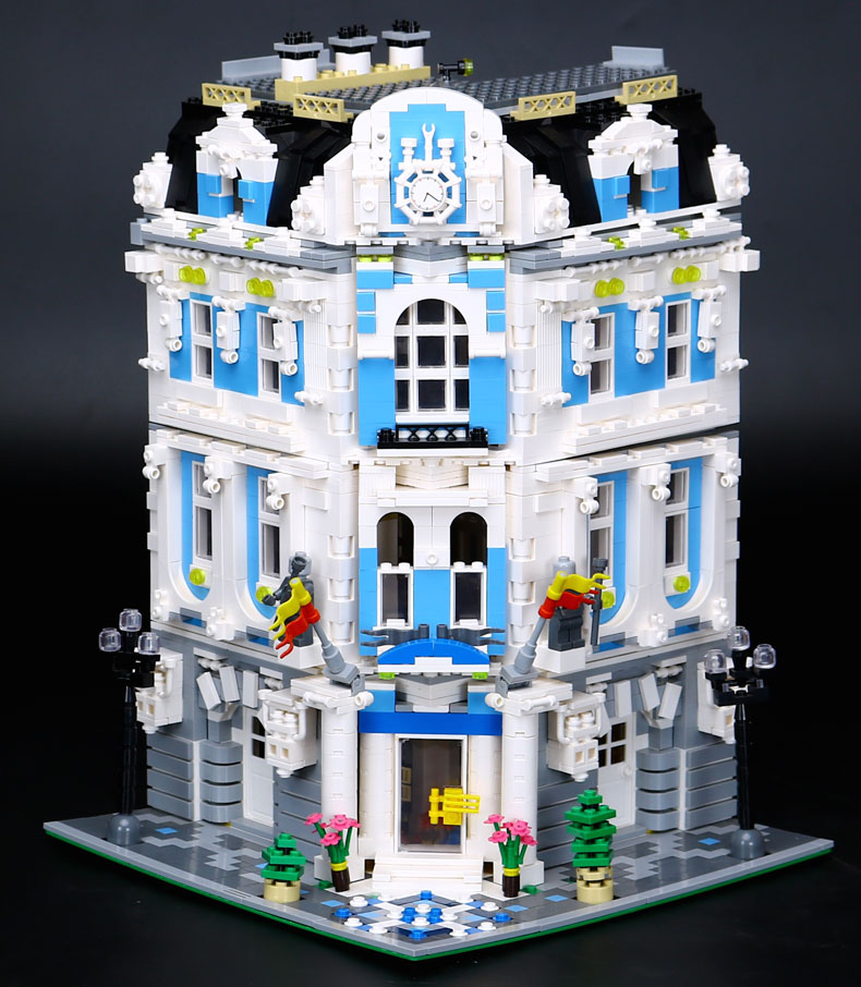 LEPIN 15018 Building Blocks Toys MOC Creator International Sunshine Hotel Building Brick Sets