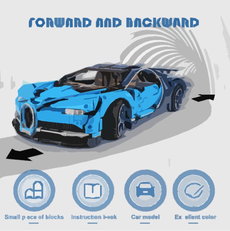 LEPIN 20086 Technic Bugatti Chiron Building Toys Compatible Building Blocks