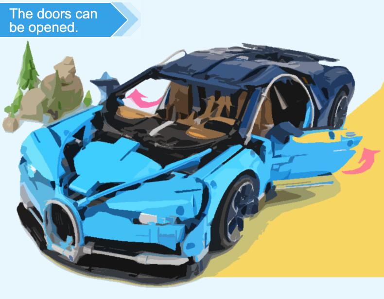 NUOGAO 20086 Technic Bugatti Chiron Building Toys Compatible Building Blocks