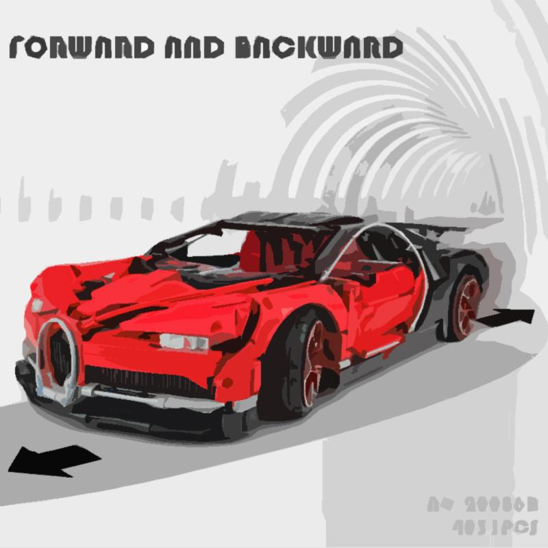LEPIN 20086B Bugatti Chiron Building Bricks Set