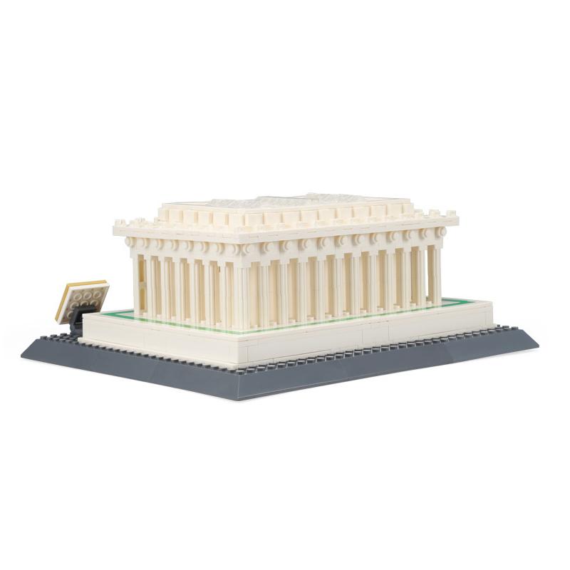 WANGE Architecture Lincoln Memorial Building 4216 Building Blocks Toy Set