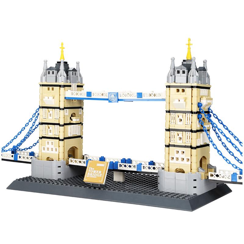 WANGE Architecture Tower Bridge Building 4219 Building Blocks Toy Set