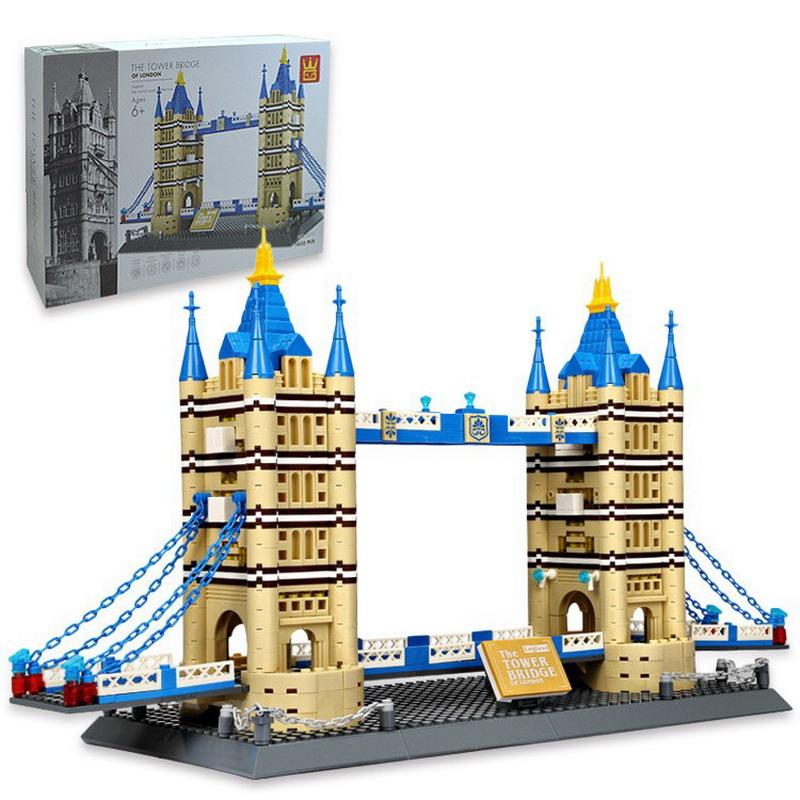 WANGE Architecture Tower Bridge 5215 Building Blocks Toy Set