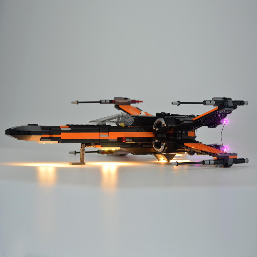 LIGHT BRICKS LED Light kit for LEGO Star Wars Poe/'s X-Wing Fighter 75102