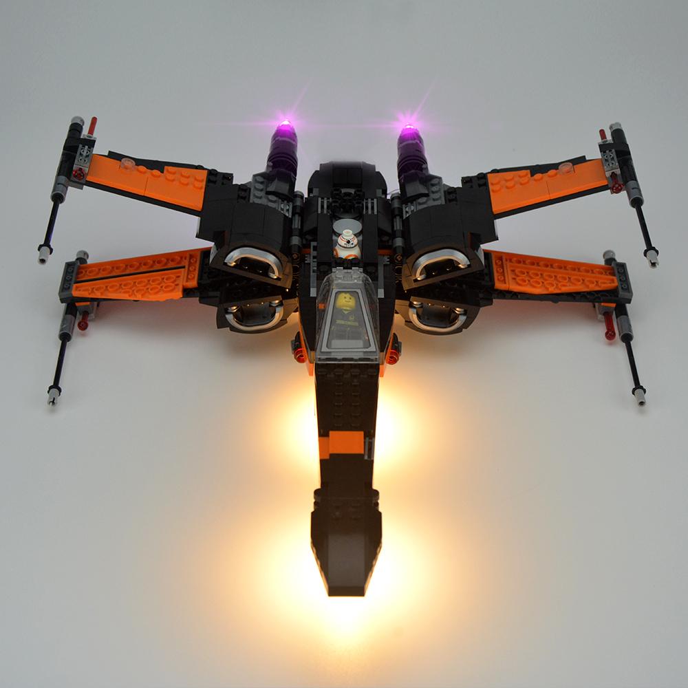 Light Kit For Star Wars Poe's X-Wing Fighter LED Lighting Set 75102