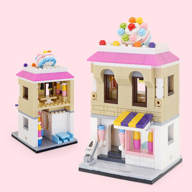 WANGE Architecture 5 modern shops 2310-2314 Building Blocks Toy Set