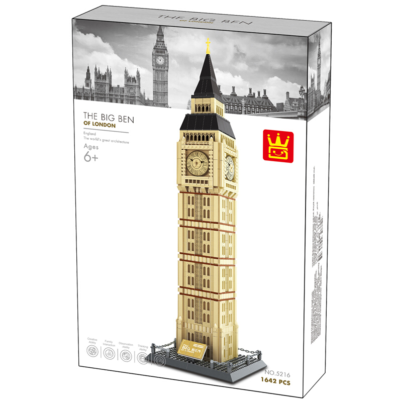 WANGE Architecture Big Ben London UK 5216 Building Blocks Toy Set