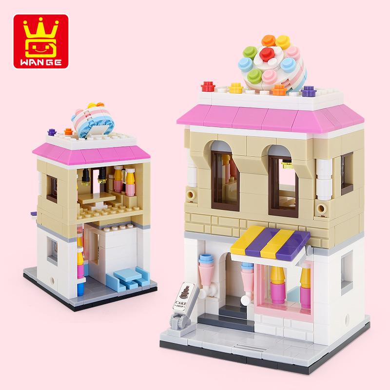 WANGE Architecture Cake shop 2311 Building Blocks Toy Set