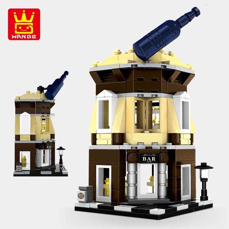 WANGE Architecture Corner pub 2313 Building Blocks Toy Set