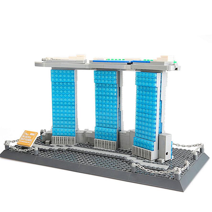 WANGE Architecture Sands Hotel Singapore 4217 Building Blocks Toy Set