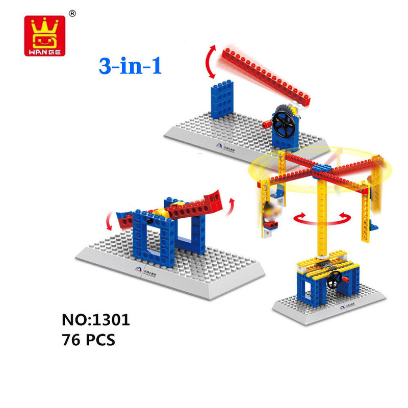 WANGE Mechanical Engineering Basic engineering manual mechanical set 4 1301-1 Building Blocks Toy Set