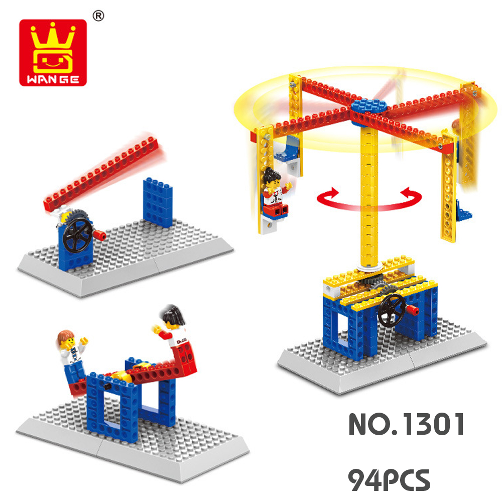 WANGE Mechanical Engineering Carousel engineering manual machinery 1301 Building Blocks Toy Set