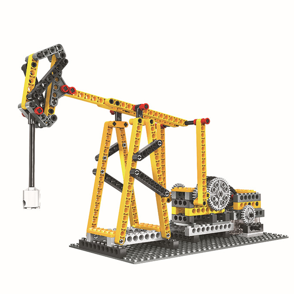 WANGE Mechanical Engineering Liang's pumping unit engineering electric machinery 1406 Building Blocks Toy Set
