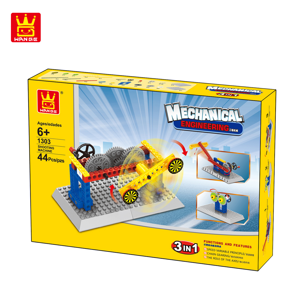 WANGE Mechanical Engineering Targeting machine engineering manual machinery 1303 Building Blocks Toy Set