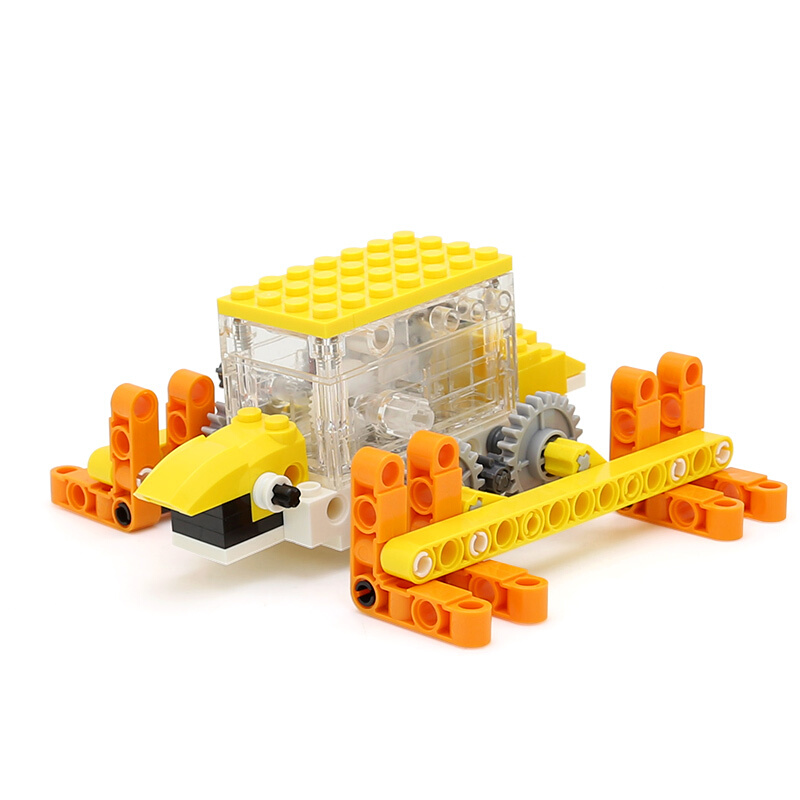 WANGE Robotic Animal Tortoise Animal Electric Machinery 1203 Building Blocks Toy Set
