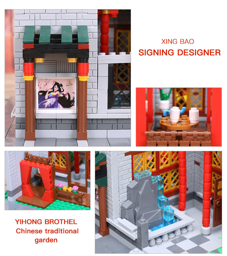 XINGBAO 01003 Yihong Brothel Building Bricks Set