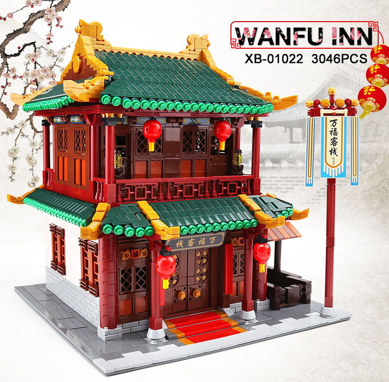 XINGBAO 01022 Wanfu Inn Building Bricks Set