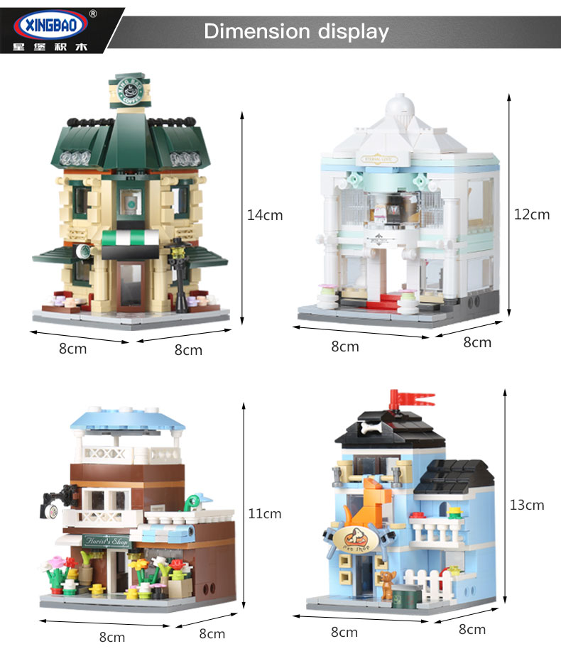 XINGBAO 01105 Original City Building Bricks Set