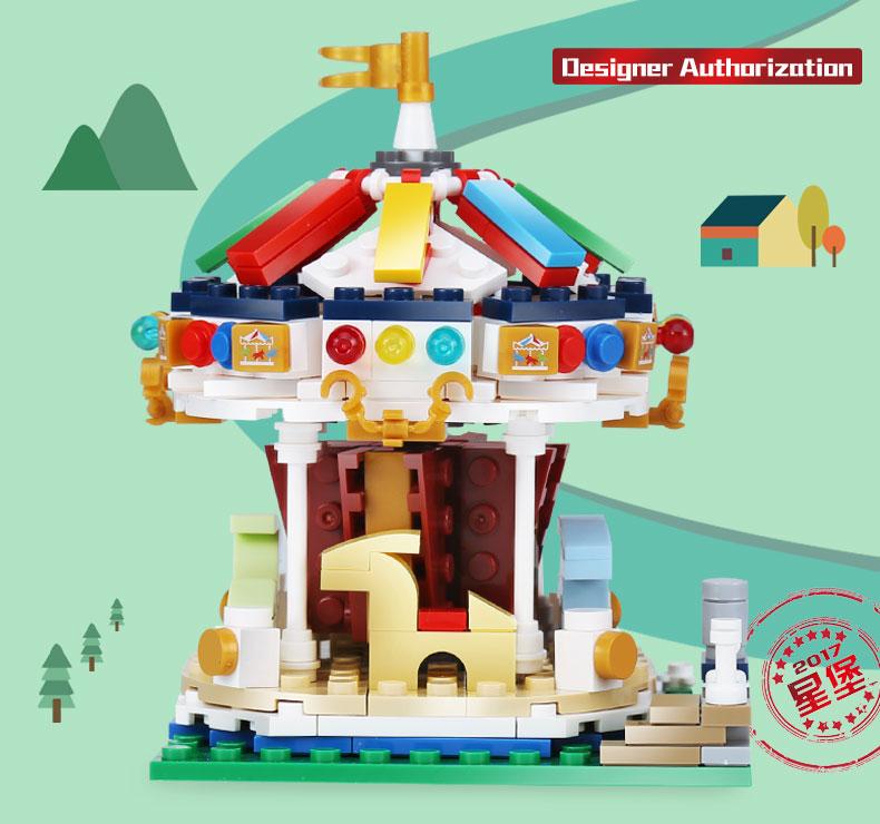 XINGBAO 01107 Merry Go Round Building Bricks Set