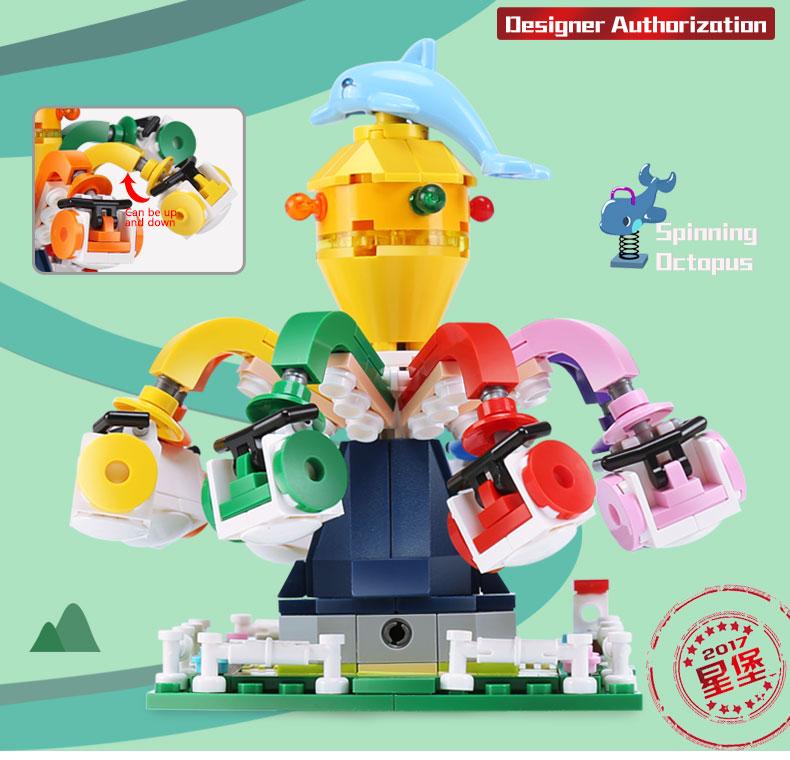 XINGBAO 01108 Spinning Octopus Building Bricks Set