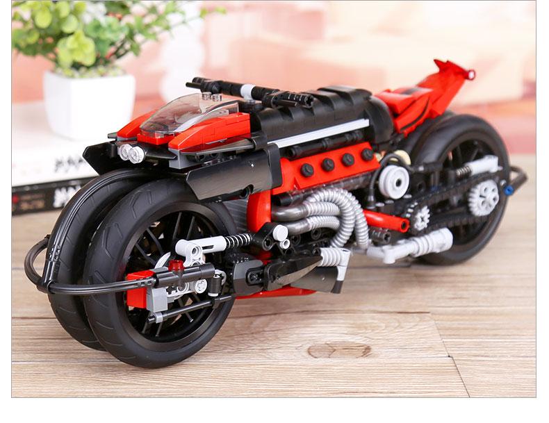 XINGBAO 03021 Motorcycle Building Bricks Set