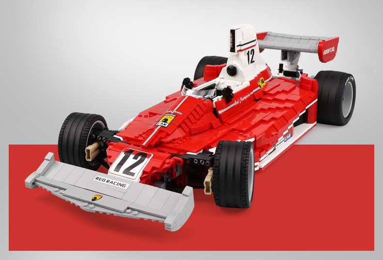 XINGBAO 03023 Red Formula One Racing Car Building Bricks Set
