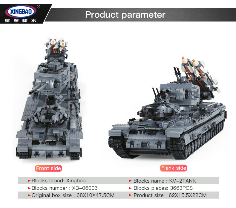 XINGBAO 06006 Kv-2tank Building Bricks Set