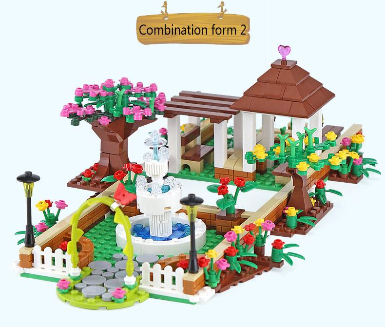 XINGBAO 12004 The Corner Of The School Building Bricks Set