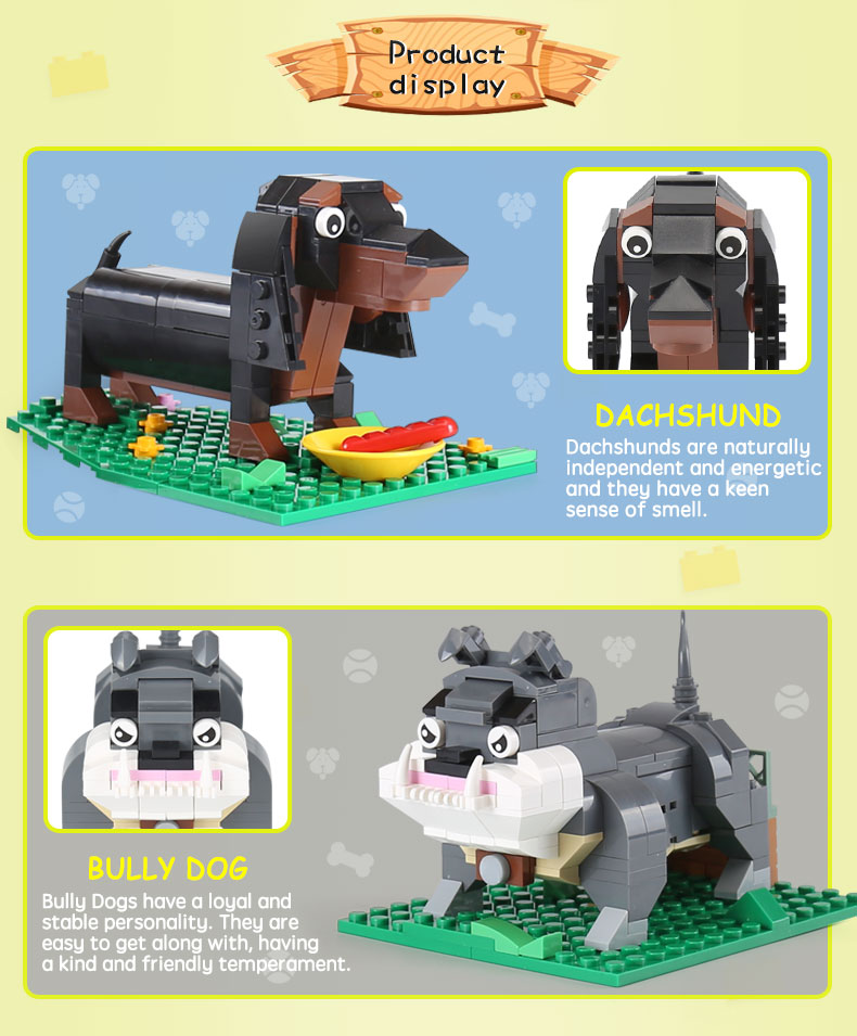 XINGBAO 18003 Cute Brick Puppy Building Bricks Set