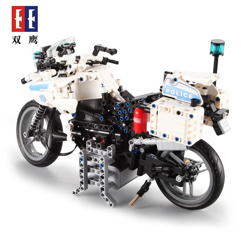 Double Eagle CaDA C51023 Police Motorcycle Building Blocks Set