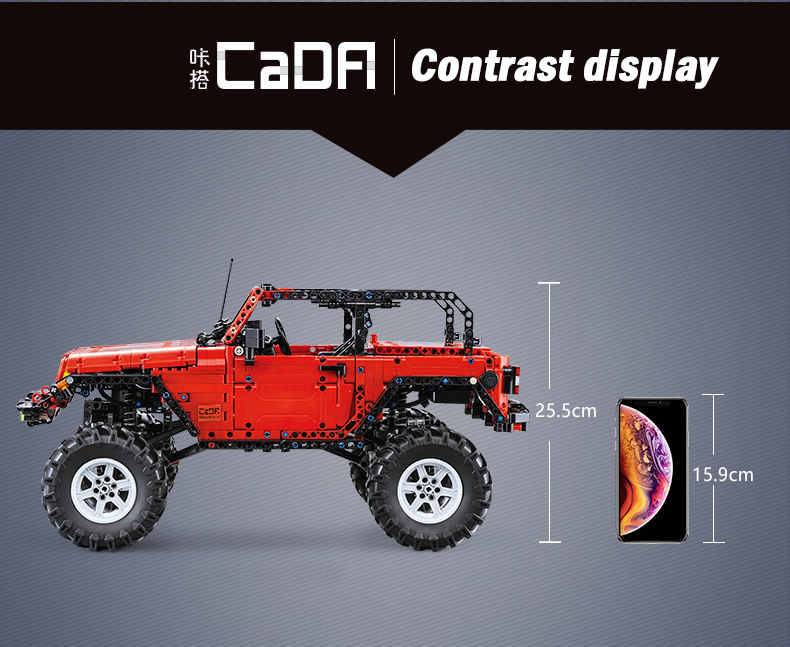 Double Eagle CaDA C61006 Wrangler Adventurer Car 2.4G Remote Control Building Blocks Toy Set