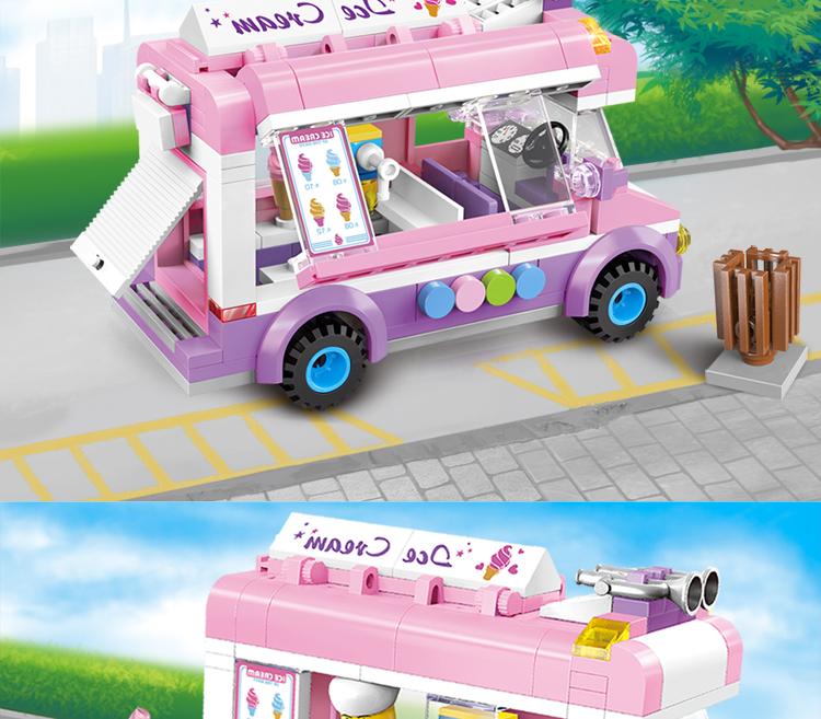ENLIGHTEN 1112 Ice-Cream Van Building Blocks Set