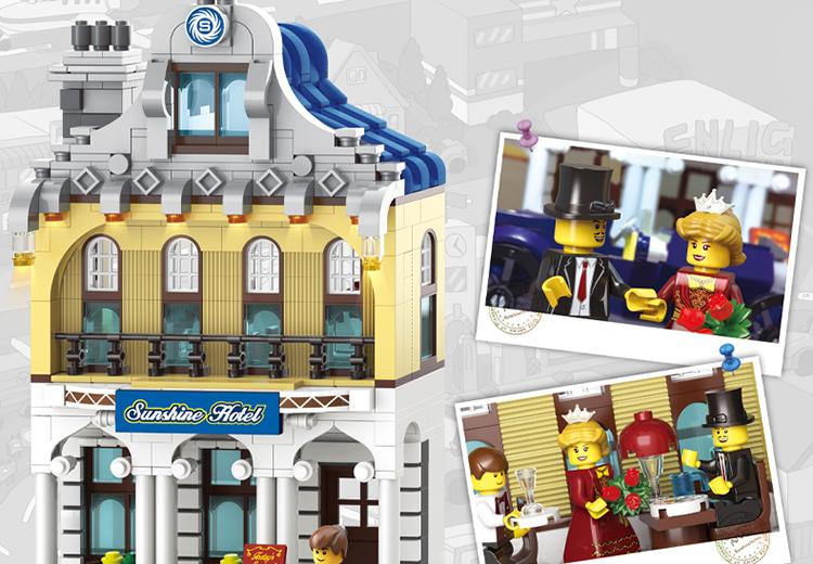 ENLIGHTEN 1127 Sunshine Hotel Building Blocks Set