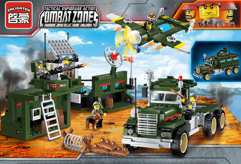 ENLIGHTEN 1713 Mobile Strike Force Vehicle Building Blocks Set
