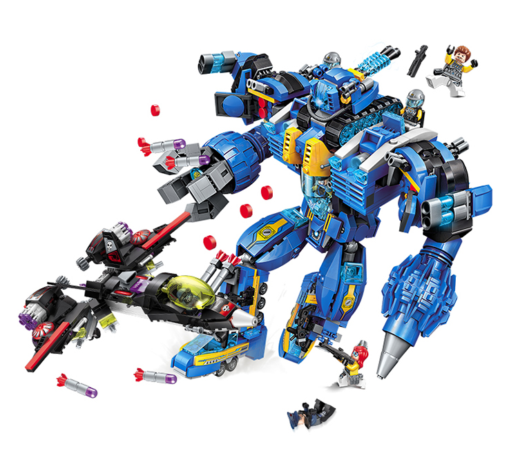 ENLIGHTEN 2722 Mecha-Poseidon Building Blocks Set