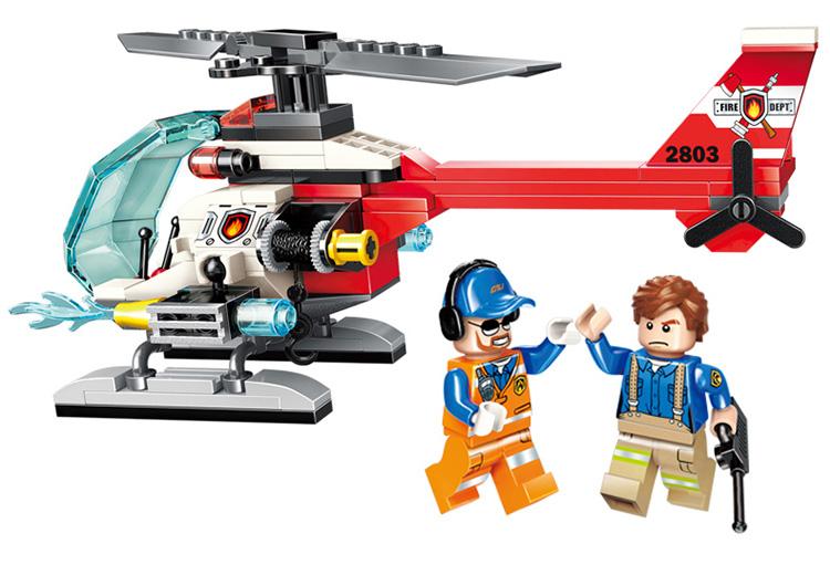 ENLIGHTEN 2803 Rescue Helicopter Building Blocks Set
