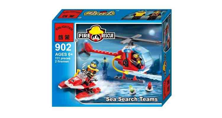 ENLIGHTEN 902 Sea Search Teams Building Blocks Set