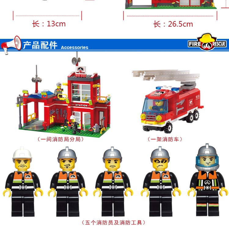 ENLIGHTEN 910 Fire Control Branch Bureau Building Blocks Set