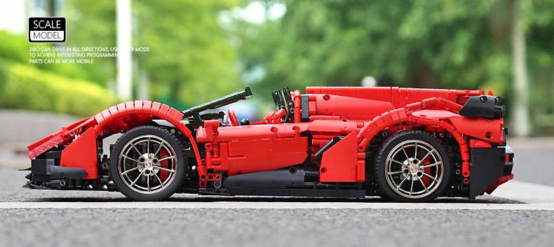 MOULD KING 13079 Lamborghini Veneno Supercar Remote Control Building Blocks Toy Set